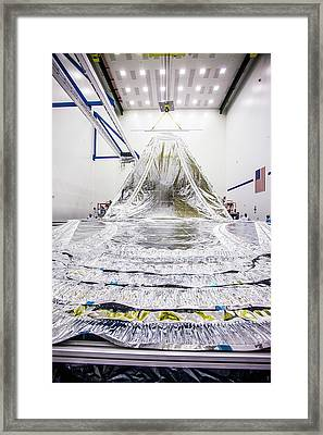 James Webb Space Telescope Sunshield Framed Print by Northrop Grumman/nasa