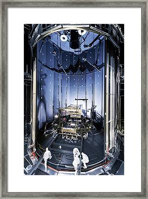 James Webb Space Telescope Testing Framed Print by Nasa, Chris Gunn