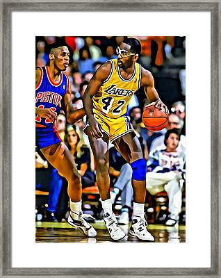James Worthy Framed Print by Florian Rodarte