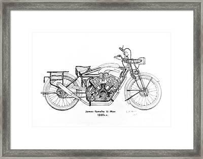 James-yamaha Vmax Framed Print