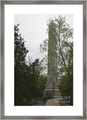 Jamestown Tercentennial Monument Framed Print by Teresa Mucha