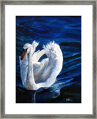 Jamie's Swan Framed Print