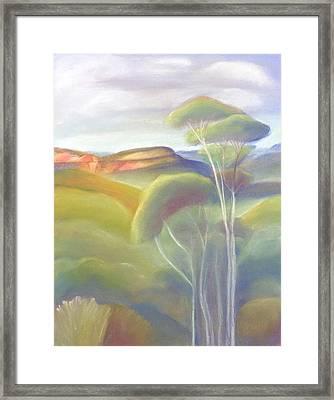 Jamison Valley Blue Mountains National Park Nsw Australia Framed Print
