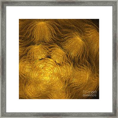 Jammer Anemones In Gold Framed Print by First Star Art
