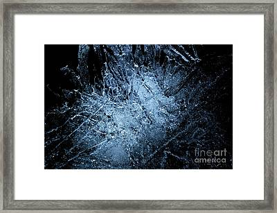 Framed Print featuring the photograph jammer Frozen Cosmos by First Star Art