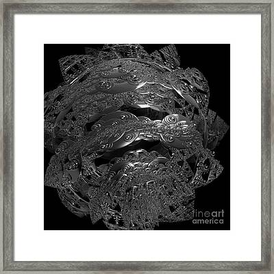Jammer Silver City Planet Framed Print by First Star Art