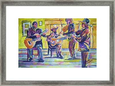 Jammin Framed Print by Linda Vaughon