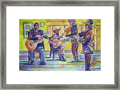 Jammin Framed Print by Linda Vaughon