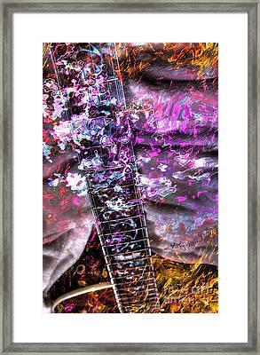 Jammin Out Digital Guitar Art By Steven Langston Framed Print by Steven Lebron Langston