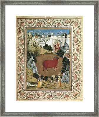 Jamnapattra Of The Prince Of Lahore Framed Print by Everett