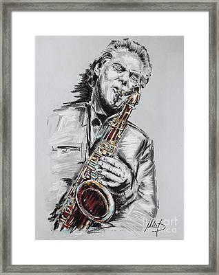 Jan Garbarek Framed Print by Melanie D