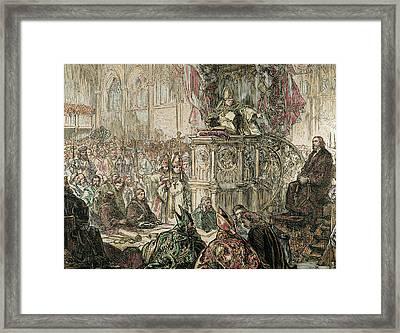 Jan Hus (1369-1415 Framed Print by Prisma Archivo