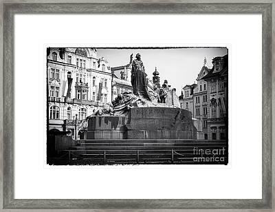 Jan Hus Framed Print by John Rizzuto