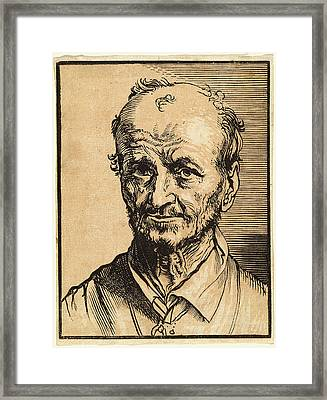 Jan Lievens, Bust Of A Balding Man, Dutch Framed Print
