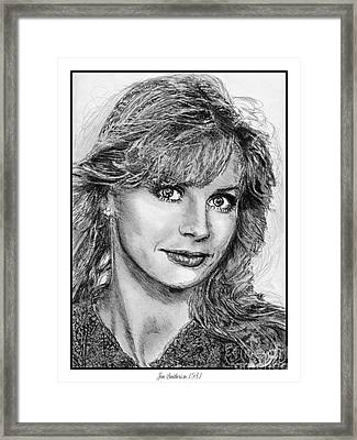 Jan Smithers In 1981 Framed Print by J McCombie