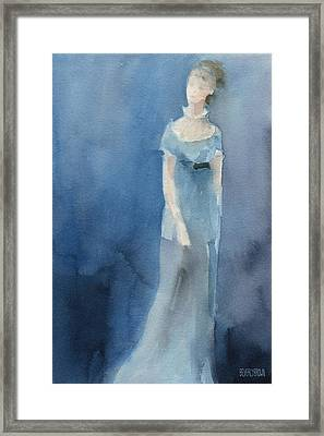 Jane Austen Watercolor Painting Art Print Framed Print by Beverly Brown