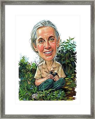 Jane Goodall Framed Print by Art