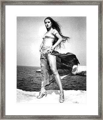 Jane Seymour In Sinbad And The Eye Of The Tiger  Framed Print by Silver Screen