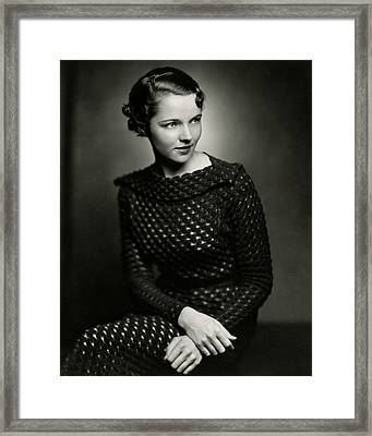 Jane Wyatt Wearing A Dress Framed Print