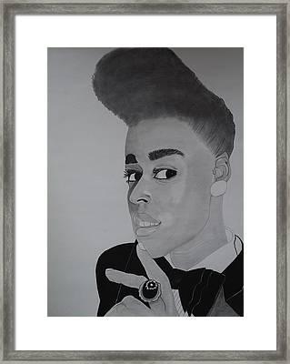 Janelle Monae Framed Print by Ordette Rocque