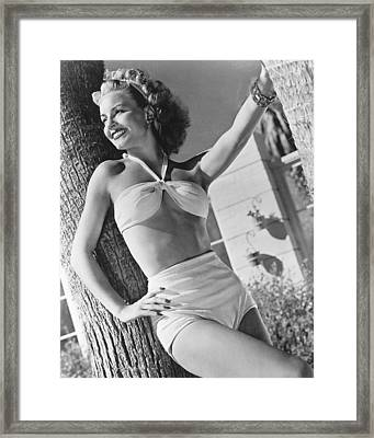 Janet Blair Framed Print by Silver Screen