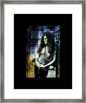 Janis Joplin - Blue Framed Print