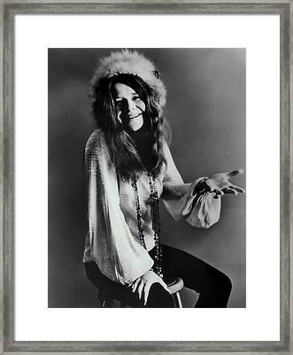 Janis Joplin Framed Print by Daniel Hagerman