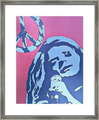 Janis Joplin Framed Print by Lew Griffin