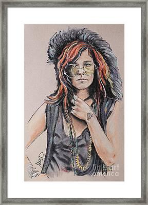 Janis Joplin Framed Print by Melanie D