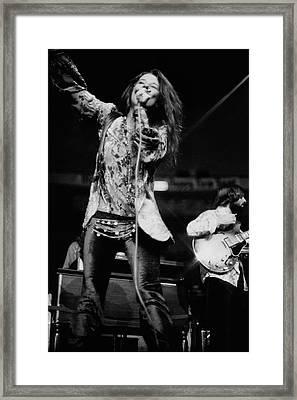 Janis Joplin On Stage Framed Print