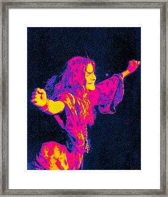 Janis Joplin Psychedelic Fresno 2 Framed Print