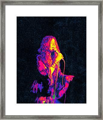 Janis Joplin Psychedelic Fresno  Framed Print