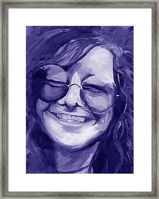 Janis Joplin Purple Framed Print