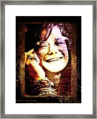 Janis Joplin - Upclose Framed Print