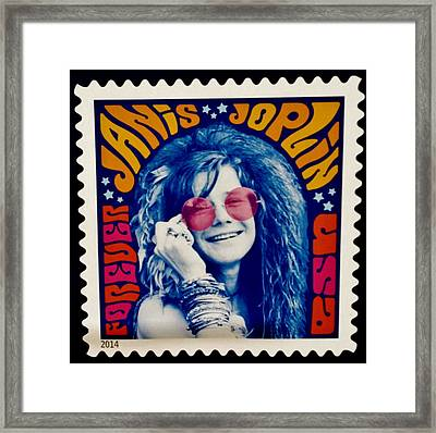Janis Stamp In A Groovy Vibe Framed Print