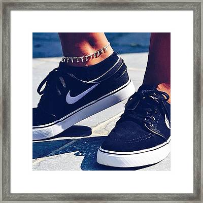 janoskians  shoes  nike  black Framed Print by Ellen Baetens 30d5a481e
