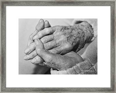 Jan's Hands Framed Print