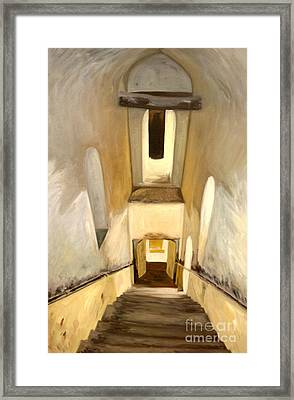 Jantar Mantar Staircase Framed Print by Mukta Gupta