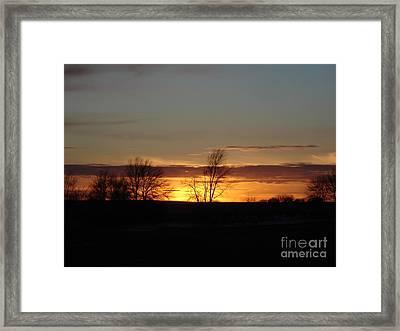 January 13th Sunset Framed Print by J L Zarek