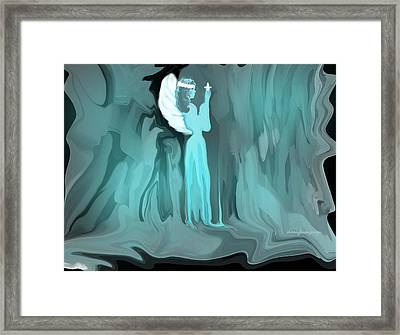January Angel Framed Print by Sherri's Of Palm Springs