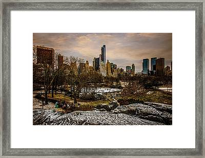 January At Central Park South Framed Print by Chris Lord