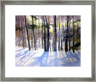 January Blues Framed Print by Jeanne Rosier Smith