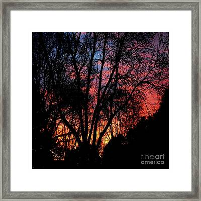 Framed Print featuring the photograph January Dawn by Luther Fine Art