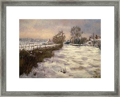 January Fall Framed Print by Vic Trevett