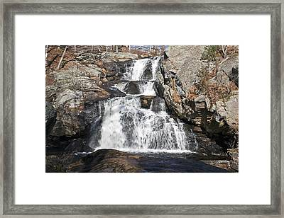 January Falls Framed Print