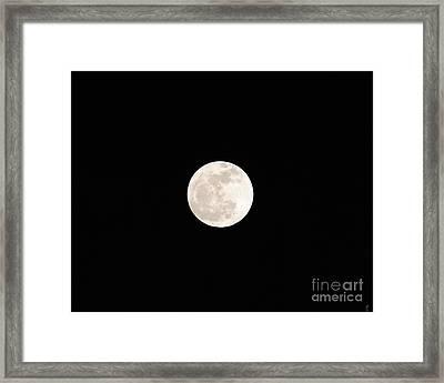 January Full Moon Framed Print by Jai Johnson