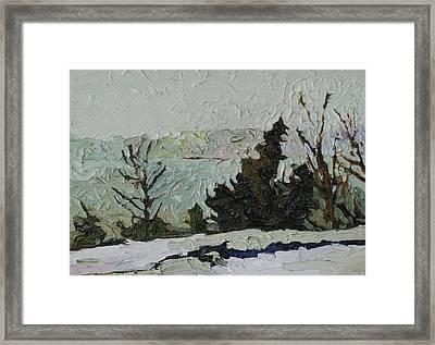 January Grays Framed Print