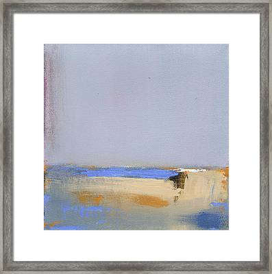 January Harbor Framed Print
