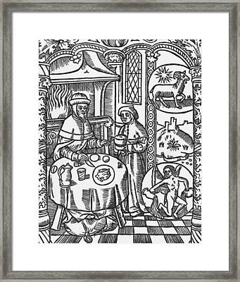 January Framed Print by Pierre Le Rouge