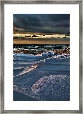 January Saugatuck Blues Michigan Framed Print